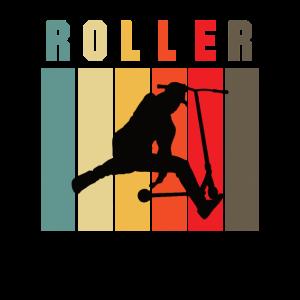 Tretroller Roller fahren