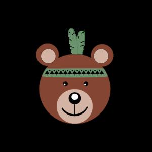 suesser Bär im Indianer Style