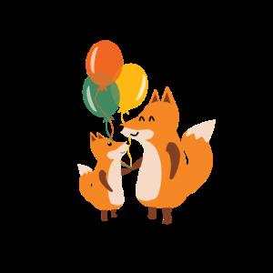 Kindergeburtstag Geschenkidee Fuchs Familie