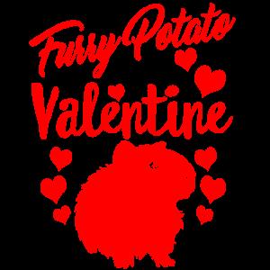 Meine pelzige Kartoffel ist mein Valentinstagshirt Meerschweinchen