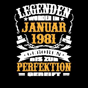 Legende Januar 1981 Geburtstagsgeschenk 40 Jahre