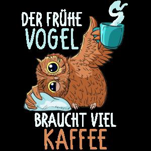 Kaffee Eule Kaffeetrinker Koffein lustiger Spruch