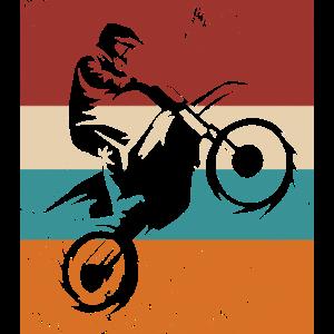 Vintage Motocross Fahrer Dirtbike Motorrad Enduro