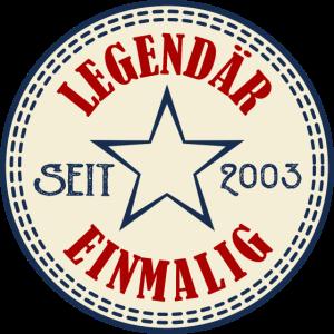 18 Jahre Geburtstag Legendär Seit 2003 - Geschenk