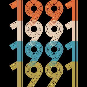 Retro Vintage 1991 TShirt 29th Birthday Gifts 29