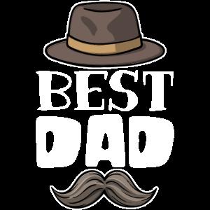 Bester Dad Papa Lieblingspapa Vatertag Schnurrbart
