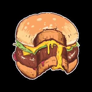 Saftiger Cheeseburger mit schmelzendem Käse