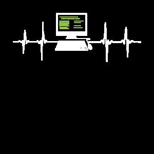 Programmierer EKG Herzschlag Computer Desktop