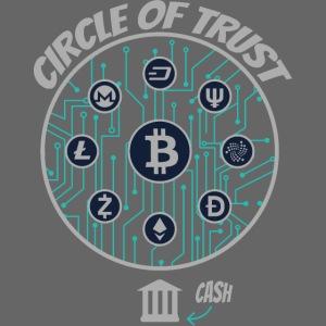 BITCOIN Circle of Trust   IOTA, Monero, Litecoin