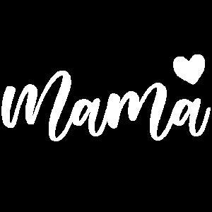 Mama Kalligrafie mit Herz Mutter