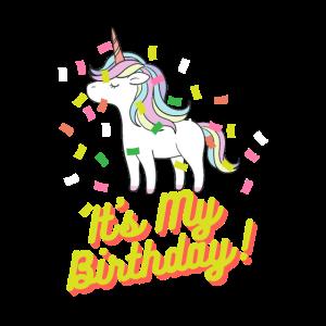 Its My Birthday Einhorn Geburtstag für Mädchen