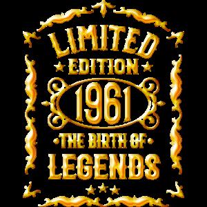 Jahrgang 1961 Geburtstag 1961 Limited Edition