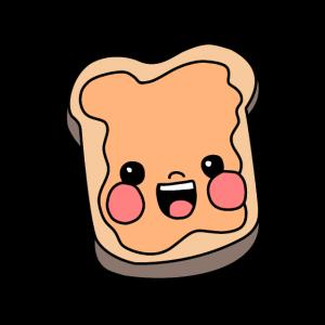 Toast Erdnussbutter Freude
