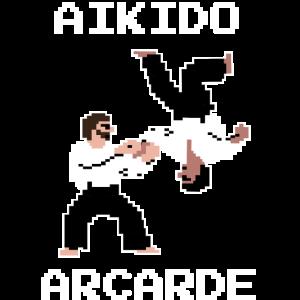 Aikido Arcade Shirt für den Retrogamer & Aikidoka