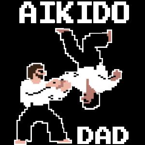 Aikido Dad T Shirt, für den Aikidoka & Retrogamer