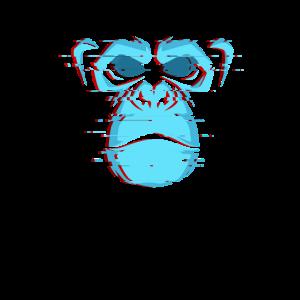 Illustration Affe für Affen Liebhaber