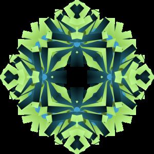 Floral Green Blue