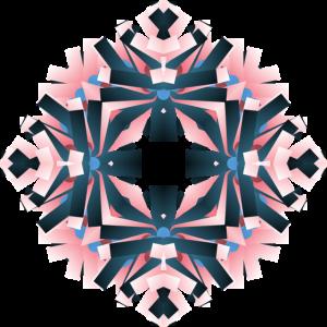 Floral Pink Blue