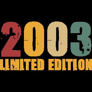 Jahrgang 2003 geboren Limitierte Auflage