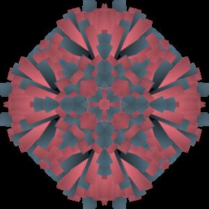 Abstrakt Red Grey