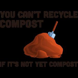Kompostierung Kompost Gartenarbeit Gartengärtner Lustig
