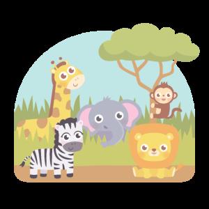 Niedliche wilde Safari-Tiere