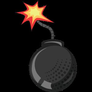 Bombe Docht ziehen Flamme