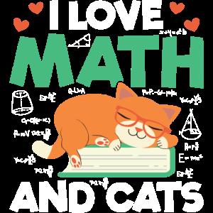 I Love Math And Cats Mathematics Cat Lover Formula