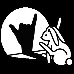 Kaninchen Hand Schatten Ruf Dich An! Handy Telefon