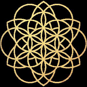 Blume Linien Gold Meditation Yoga exklusiv namaste