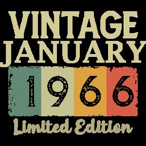 Vintage Januar 1966 Geburtstag Limited Edition