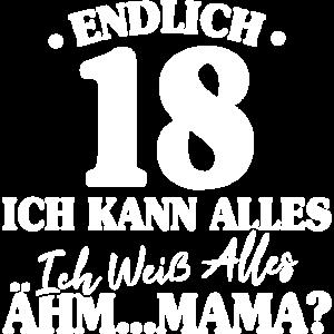 Lustiges 18. Geburtstag Geschenk Endlich 18