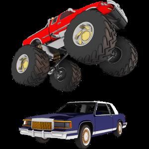 Monstertruck, Geländewagen, Pickup, Van