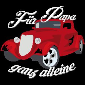 Papa fährt Hot Rod | roter Hot Rod für Papa