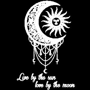 Boho Mond und Sonne sun and moon gothic graphik