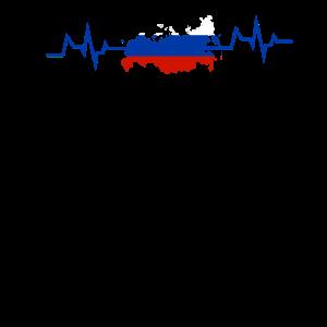 russia russische Flagge Fahne herzschlag