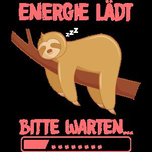 Faultier im Energiesparmodus Müde Schlaf Relax