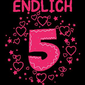 Endlich 5 - Kindergeburtstag - Happy Birthday