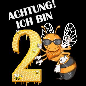 Geburtstag Kinder 2 Jahre alt Biene Hummel Spruch
