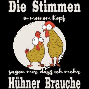 Stimmen im Kopf Huhn Hühner Bauer Landwirt