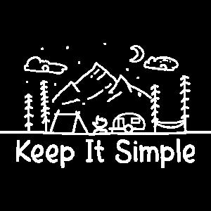 Wohnwagen Geschenk Camper Spruch Keept it simple