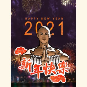 Gordon Liu som SanTe - Warrior Monk - Happy NewYear