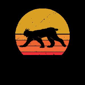 Retro Sonne Luchs Wildtier Tier Geschenk
