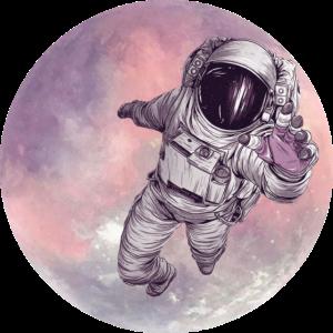 Astronaut verlässt Mond