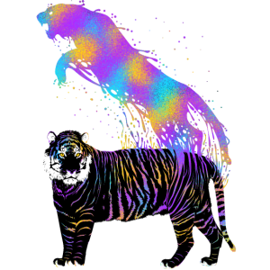 Tigerfarbene Tinte