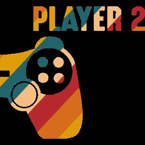 Player 2 Gamer partnerlook Geschenk