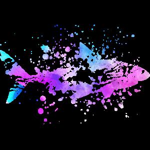 Hai Fisch Aquarell Farben