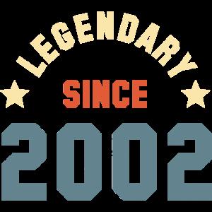 Vintage Legendary since 2002 Geburtstag Retro