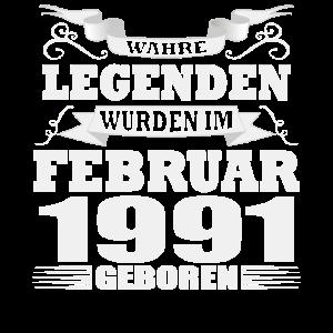 Legenden wurden Februar 1991 geboren Geburtstag