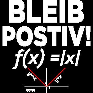 BLEIB POSTIV Mathematik Methematiker Geschenk